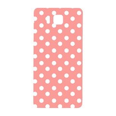 Coral And White Polka Dots Samsung Galaxy Alpha Hardshell Back Case by creativemom