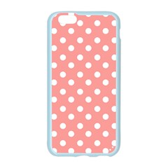 Coral And White Polka Dots Apple Seamless iPhone 6/6S Case (Color) by creativemom