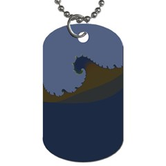 Ocean Waves Dog Tag (two Sides) by theunrulyartist