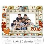 My calander2016嫲嫲 - Wall Calendar 11  x 8.5  (12-Months)