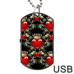 King Of Hearts Dog Tag Usb Flash (two Sides)  by LovelyDesigns4U