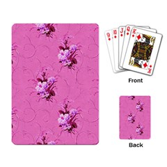 Pink Floral Pattern Playing Card by LovelyDesigns4U