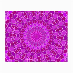 Purple And Pink Mandala Small Glasses Cloth (2 Side) by LovelyDesigns4U
