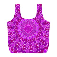 Purple And Pink Mandala Full Print Recycle Bags (l)  by LovelyDesigns4U