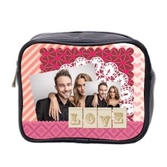 Love By Love   Mini Toiletries Bag (two Sides)   Uwvmooxn428v   Www Artscow Com Front