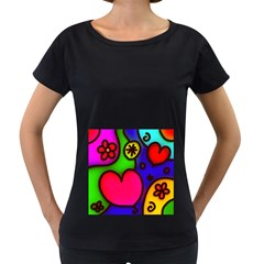 Colorful Modern Love 2 Women s Loose Fit T Shirt (black) by MoreColorsinLife