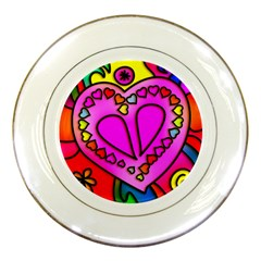 Colorful Modern Love Porcelain Plates by MoreColorsinLife