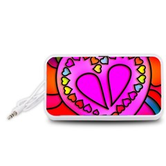 Colorful Modern Love Portable Speaker (White)  by MoreColorsinLife
