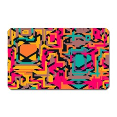 Colorful Shapes Magnet (rectangular) by LalyLauraFLM