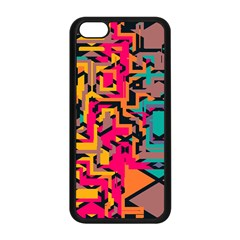 Colorful Shapes Apple Iphone 5c Seamless Case (black) by LalyLauraFLM