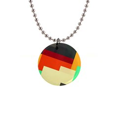 Miscellaneous Retro Shapes 1  Button Necklace by LalyLauraFLM