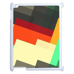 Miscellaneous Retro Shapes Apple Ipad 2 Case (white) by LalyLauraFLM