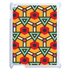 Triangles And Hexagons Pattern Apple Ipad 2 Case (white) by LalyLauraFLM