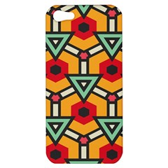 Triangles And Hexagons Pattern Apple Iphone 5 Hardshell Case by LalyLauraFLM