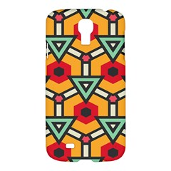 Triangles And Hexagons Pattern Samsung Galaxy S4 I9500/i9505 Hardshell Case by LalyLauraFLM