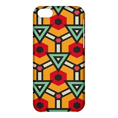 Triangles And Hexagons Pattern Apple Iphone 5c Hardshell Case by LalyLauraFLM