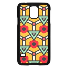 Triangles And Hexagons Pattern	samsung Galaxy S5 Case