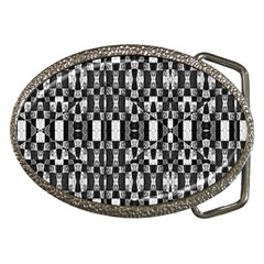 Black And White Geometric Tribal Pattern Belt Buckles by dflcprints