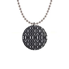 Black And White Geometric Tribal Pattern Button Necklaces by dflcprints