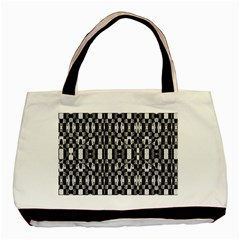 Black And White Geometric Tribal Pattern Basic Tote Bag (two Sides)  by dflcprints