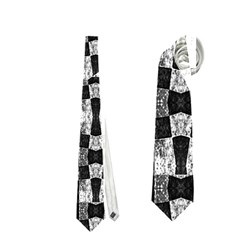 Black And White Geometric Tribal Pattern Neckties (one Side)  by dflcprints