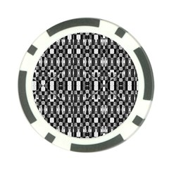 Black And White Geometric Tribal Pattern Poker Chip Card Guards by dflcprints