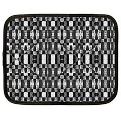 Black And White Geometric Tribal Pattern Netbook Case (xl)  by dflcprints