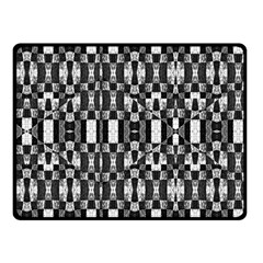 Black And White Geometric Tribal Pattern Fleece Blanket (small) by dflcprints