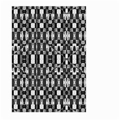 Black And White Geometric Tribal Pattern Large Garden Flag (two Sides) by dflcprints