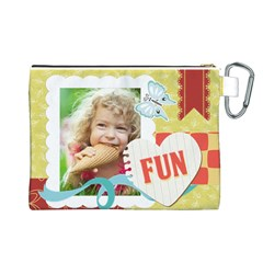 Kids By Kids   Canvas Cosmetic Bag (large)   O9qpsdw29nrl   Www Artscow Com Back