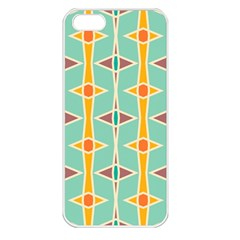 Rhombus Pattern In Retro Colors apple Iphone 5 Seamless Case (white) by LalyLauraFLM