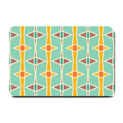 Rhombus Pattern In Retro Colors 			small Doormat by LalyLauraFLM
