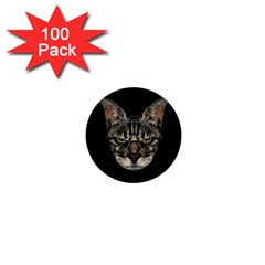 Angry Cyborg Cat 1  Mini Buttons (100 pack)  by dflcprints