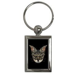 Angry Cyborg Cat Key Chains (rectangle)  by dflcprints
