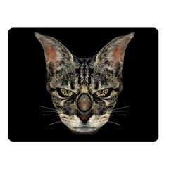 Angry Cyborg Cat Fleece Blanket (small) by dflcprints