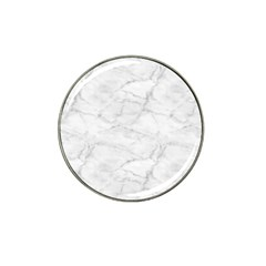 White Marble 2 Hat Clip Ball Marker (10 Pack) by ArgosPhotography