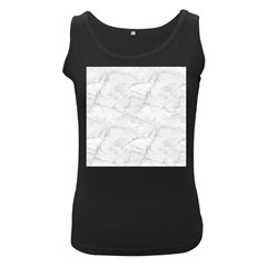 White Marble 2 Women s Black Tank Tops by ArgosPhotography