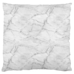 White Marble 2 Large Flano Cushion Cases (One Side)