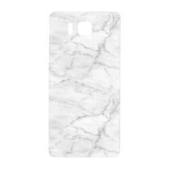White Marble 2 Samsung Galaxy Alpha Hardshell Back Case by ArgosPhotography