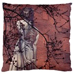lady pillow - Large Cushion Case (One Side)