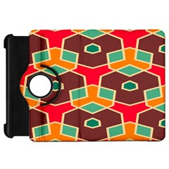 Distorted Shapes In Retro Colorskindle Fire Hd Flip 360 Case by LalyLauraFLM