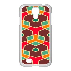 Distorted Shapes In Retro Colorssamsung Galaxy S4 I9500/ I9505 Case (white) by LalyLauraFLM