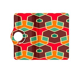 Distorted Shapes In Retro Colorskindle Fire Hdx 8 9  Flip 360 Case by LalyLauraFLM