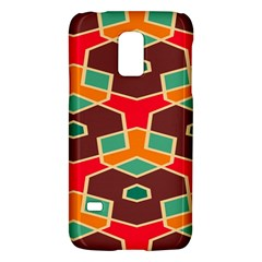 Distorted Shapes In Retro Colorssamsung Galaxy S5 Mini Hardshell Case by LalyLauraFLM