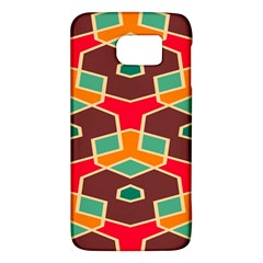 Distorted Shapes In Retro Colorssamsung Galaxy S6 Hardshell Case by LalyLauraFLM