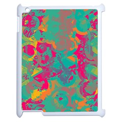 Fading Circles			apple Ipad 2 Case (white) by LalyLauraFLM