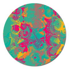 Fading Circlesmagnet 5  (round) by LalyLauraFLM