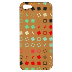 Squares On A Brown Backgroundapple Iphone 5 Hardshell Case by LalyLauraFLM