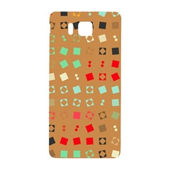 Squares On A Brown Backgroundsamsung Galaxy Alpha Hardshell Back Case by LalyLauraFLM