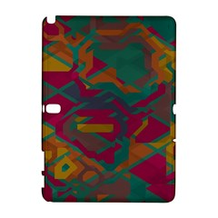Geometric Shapes In Retro Colorssamsung Galaxy Note 10 1 (p600) Hardshell Case by LalyLauraFLM